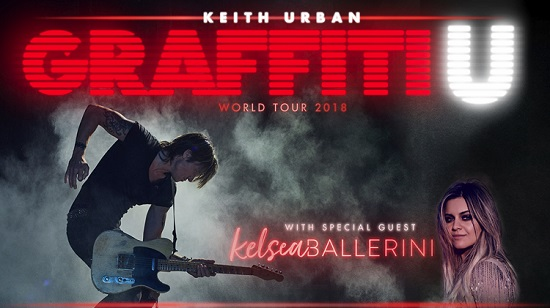 Keith Urban with Kelsea Ballerini Harveys Outdoor Arena